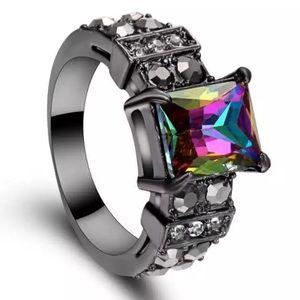 Rainbow Topaz Ring (V26)
